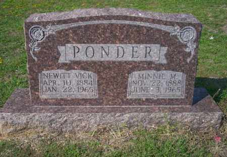 PONDER, MINNIE M - Columbia County, Arkansas | MINNIE M PONDER - Arkansas Gravestone Photos
