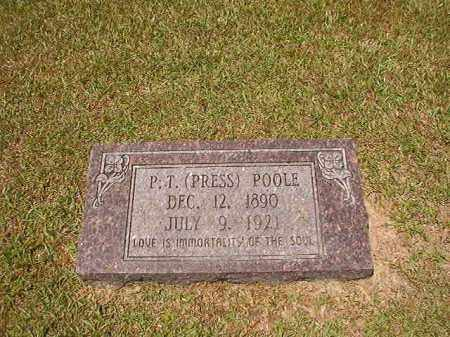 POOLE, P T (PRESS) - Columbia County, Arkansas | P T (PRESS) POOLE - Arkansas Gravestone Photos