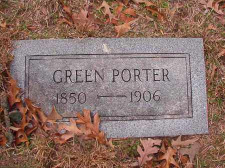 PORTER, GREEN - Columbia County, Arkansas | GREEN PORTER - Arkansas Gravestone Photos