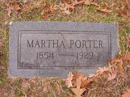 PORTER, MARTHA - Columbia County, Arkansas | MARTHA PORTER - Arkansas Gravestone Photos