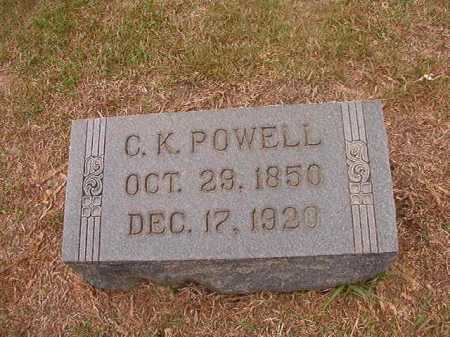 POWELL, C K - Columbia County, Arkansas | C K POWELL - Arkansas Gravestone Photos
