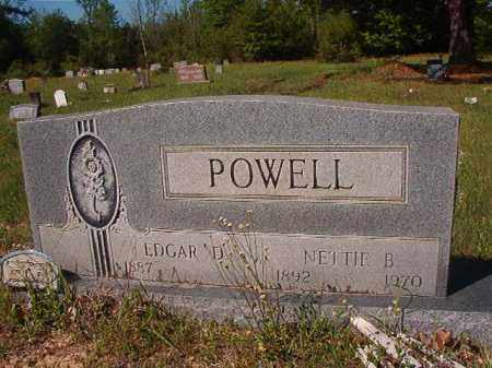 POWELL, EDGAR D - Columbia County, Arkansas | EDGAR D POWELL - Arkansas Gravestone Photos