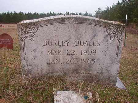 QUALLS, BURLEY - Columbia County, Arkansas | BURLEY QUALLS - Arkansas Gravestone Photos