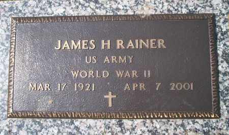 RAINER  (VETERAN WWII), JAMES H - Columbia County, Arkansas | JAMES H RAINER  (VETERAN WWII) - Arkansas Gravestone Photos