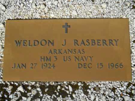 RASBERRY (VETERAN), WELDON JAMES - Columbia County, Arkansas | WELDON JAMES RASBERRY (VETERAN) - Arkansas Gravestone Photos