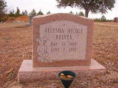 REEVES, ALLYSHA NICOLE - Columbia County, Arkansas | ALLYSHA NICOLE REEVES - Arkansas Gravestone Photos