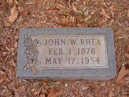 RHEA, JOHN W - Columbia County, Arkansas | JOHN W RHEA - Arkansas Gravestone Photos