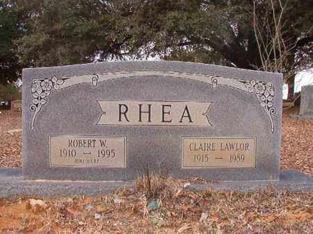 LAWLOR RHEA, CLAIRE - Columbia County, Arkansas | CLAIRE LAWLOR RHEA - Arkansas Gravestone Photos