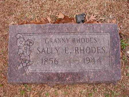 RHODES, SALLY E - Columbia County, Arkansas | SALLY E RHODES - Arkansas Gravestone Photos