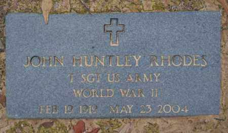 RHODES (VETERAN WWII), JOHN HUNTLEY - Columbia County, Arkansas | JOHN HUNTLEY RHODES (VETERAN WWII) - Arkansas Gravestone Photos
