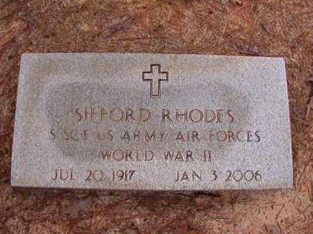RHODES (VETERAN WWII), SIFFORD - Columbia County, Arkansas | SIFFORD RHODES (VETERAN WWII) - Arkansas Gravestone Photos