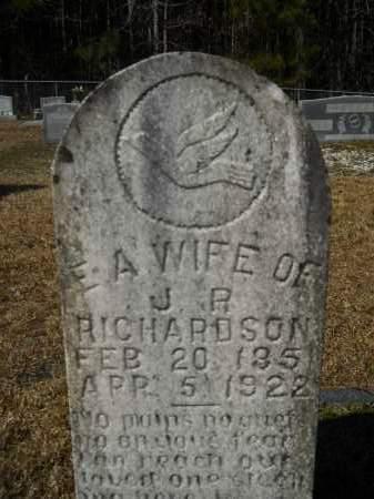 RICHARDSON, E A - Columbia County, Arkansas   E A RICHARDSON - Arkansas Gravestone Photos