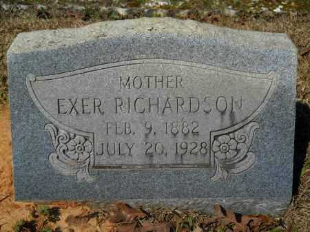 RICHARDSON, EXER - Columbia County, Arkansas | EXER RICHARDSON - Arkansas Gravestone Photos
