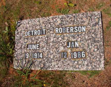 ROBERSON, DETROIT - Columbia County, Arkansas | DETROIT ROBERSON - Arkansas Gravestone Photos