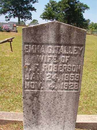 TALLEY ROBERSON, EMMA G - Columbia County, Arkansas | EMMA G TALLEY ROBERSON - Arkansas Gravestone Photos