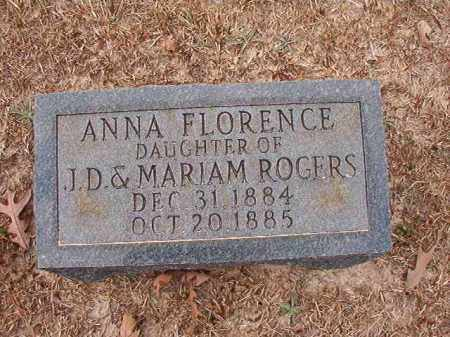 ROGERS, ANNA FLORENCE - Columbia County, Arkansas | ANNA FLORENCE ROGERS - Arkansas Gravestone Photos
