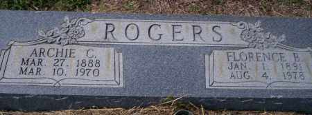 ROGERS, FLORENCE B - Columbia County, Arkansas | FLORENCE B ROGERS - Arkansas Gravestone Photos