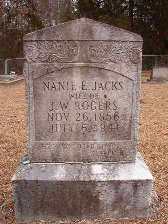 JACKS ROGERS, NANIE E - Columbia County, Arkansas | NANIE E JACKS ROGERS - Arkansas Gravestone Photos