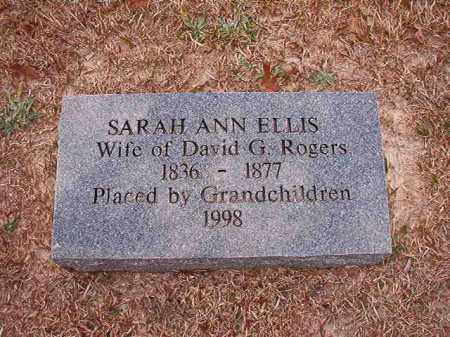 ELLIS ROGERS, SARAH ANN - Columbia County, Arkansas | SARAH ANN ELLIS ROGERS - Arkansas Gravestone Photos