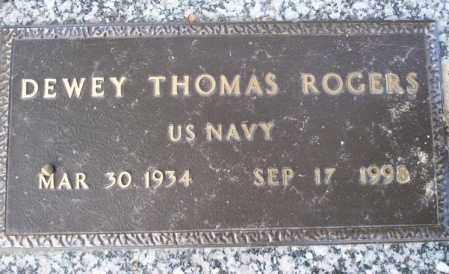 ROGERS (VETERAN), DEWEY THOMAS - Columbia County, Arkansas | DEWEY THOMAS ROGERS (VETERAN) - Arkansas Gravestone Photos