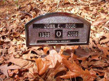 ROSE, JOHN E - Columbia County, Arkansas | JOHN E ROSE - Arkansas Gravestone Photos