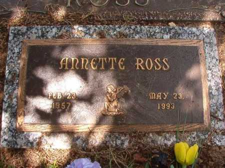 ROSS, ANNETTE - Columbia County, Arkansas | ANNETTE ROSS - Arkansas Gravestone Photos