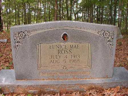 ROSS, EUNICE MAE - Columbia County, Arkansas | EUNICE MAE ROSS - Arkansas Gravestone Photos