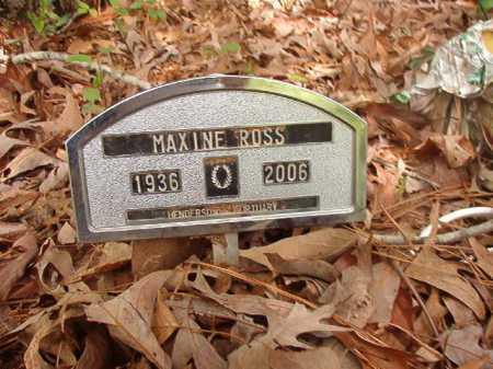 ROSS, MAXINE - Columbia County, Arkansas   MAXINE ROSS - Arkansas Gravestone Photos