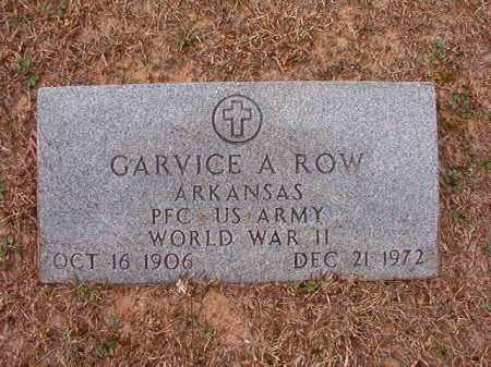 ROW (VETERAN WWII), GARVICE A - Columbia County, Arkansas | GARVICE A ROW (VETERAN WWII) - Arkansas Gravestone Photos