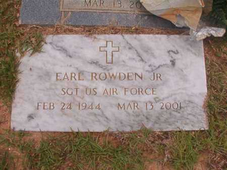 ROWDEN, JR  (VETERAN), EARL - Columbia County, Arkansas | EARL ROWDEN, JR  (VETERAN) - Arkansas Gravestone Photos