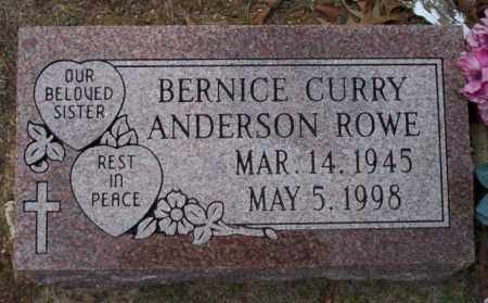 CURRY  ANDERSON ROWE, BERNICE - Columbia County, Arkansas | BERNICE CURRY  ANDERSON ROWE - Arkansas Gravestone Photos