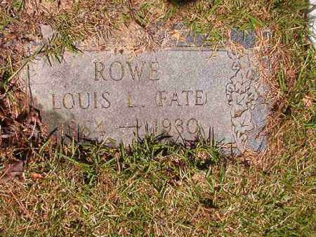 ROWE, LOUIS L (FATE) - Columbia County, Arkansas | LOUIS L (FATE) ROWE - Arkansas Gravestone Photos