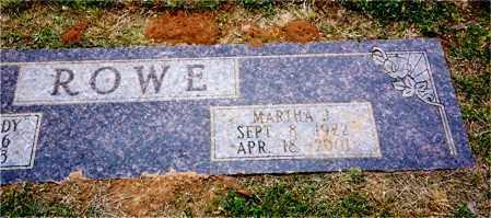 ROWE, MARTHA J. - Columbia County, Arkansas | MARTHA J. ROWE - Arkansas Gravestone Photos