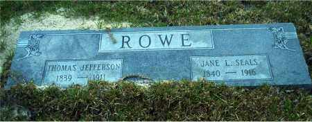 ROWE, JANE L. - Columbia County, Arkansas | JANE L. ROWE - Arkansas Gravestone Photos