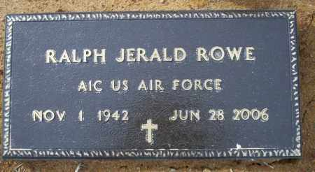 ROWE (VETERAN ), RALPH JERALD - Columbia County, Arkansas | RALPH JERALD ROWE (VETERAN ) - Arkansas Gravestone Photos