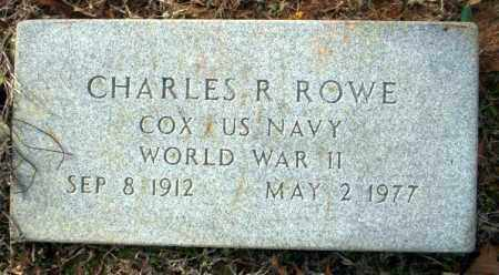 ROWE (VETERAN WWII), CHARLES R - Columbia County, Arkansas | CHARLES R ROWE (VETERAN WWII) - Arkansas Gravestone Photos