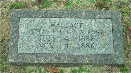 ROWE, WALLACE - Columbia County, Arkansas | WALLACE ROWE - Arkansas Gravestone Photos
