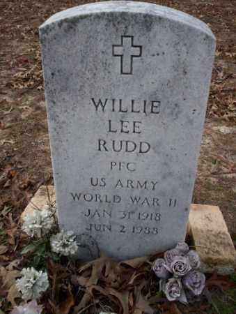 RUDD  (VETERAN WWII), WILLIE LEE - Columbia County, Arkansas | WILLIE LEE RUDD  (VETERAN WWII) - Arkansas Gravestone Photos