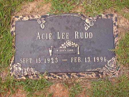 RUDD, ACIE LEE - Columbia County, Arkansas | ACIE LEE RUDD - Arkansas Gravestone Photos