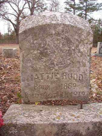 RUDD, MATTIE - Columbia County, Arkansas | MATTIE RUDD - Arkansas Gravestone Photos