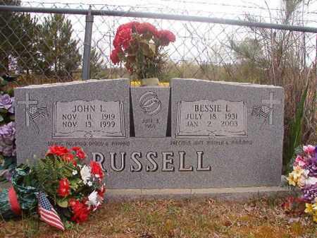 RUSSELL, JOHN L - Columbia County, Arkansas | JOHN L RUSSELL - Arkansas Gravestone Photos