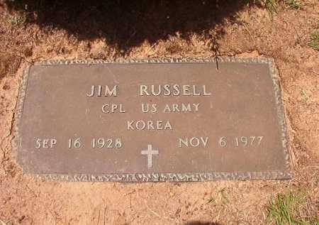 RUSSELL (VETERAN KOR), JIM - Columbia County, Arkansas | JIM RUSSELL (VETERAN KOR) - Arkansas Gravestone Photos