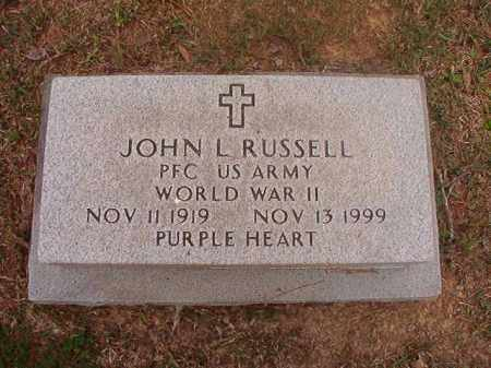 RUSSELL (VETERAN WWII), JOHN L - Columbia County, Arkansas | JOHN L RUSSELL (VETERAN WWII) - Arkansas Gravestone Photos