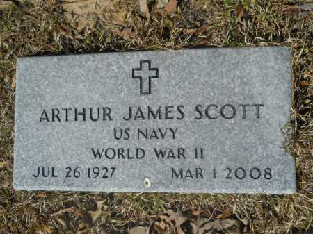 SCOTT (VETERAN WWII), ARTHUR JAMES - Columbia County, Arkansas | ARTHUR JAMES SCOTT (VETERAN WWII) - Arkansas Gravestone Photos