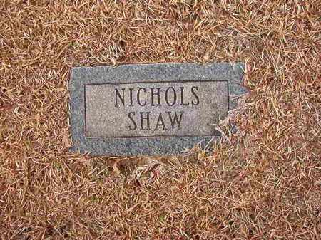 SHAW, NICHOLS - Columbia County, Arkansas | NICHOLS SHAW - Arkansas Gravestone Photos
