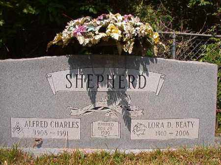 SHEPHERD, ALFRED CHARLES - Columbia County, Arkansas | ALFRED CHARLES SHEPHERD - Arkansas Gravestone Photos