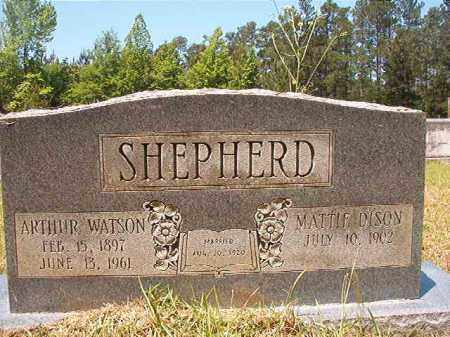 SHEPHERD, ARTHUR WATSON - Columbia County, Arkansas | ARTHUR WATSON SHEPHERD - Arkansas Gravestone Photos