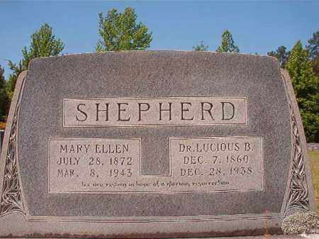SHEPHERD, MARY ELLEN - Columbia County, Arkansas | MARY ELLEN SHEPHERD - Arkansas Gravestone Photos