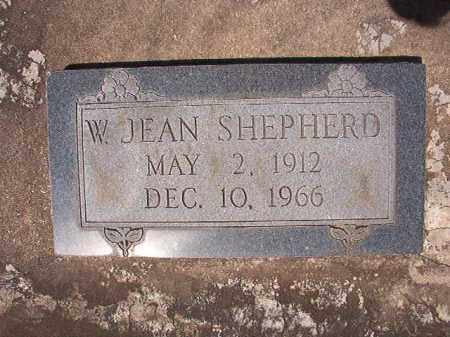 SHEPHERD, W JEAN - Columbia County, Arkansas | W JEAN SHEPHERD - Arkansas Gravestone Photos