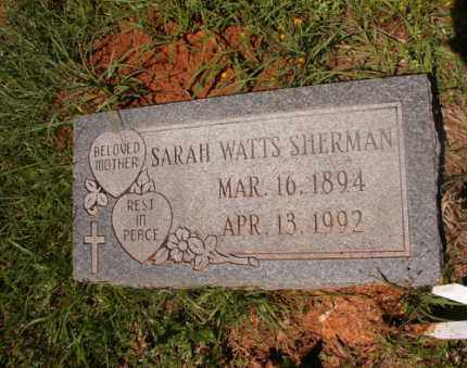 WATTS SHERMAN, SARAH - Columbia County, Arkansas | SARAH WATTS SHERMAN - Arkansas Gravestone Photos